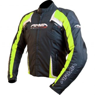 Armr Moto Eyoshi Motorcycle Jacket Black/Yellow