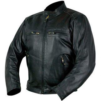 Armr Moto Hiro Leather Motorcycle Jacket Black
