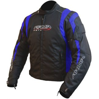 Armr Moto Ikedo 2 Motorcycle Jacket Black/Blue
