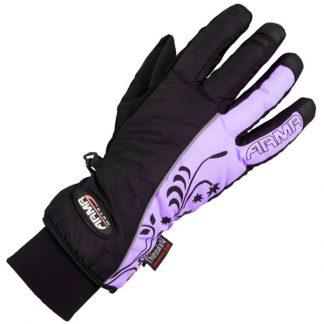 Armr Moto LWP225 Motorcycle Gloves Black/Purple