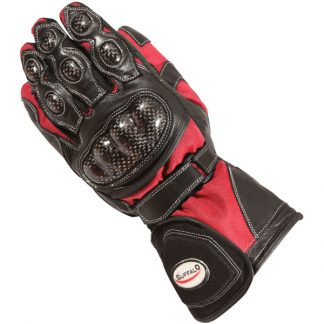Buffalo Storm Motorcycle Gloves Red