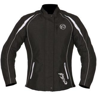 Buffalo Verona Ladies Motorcycle Jacket Black/White