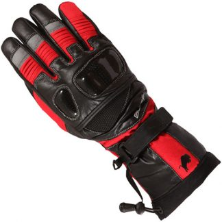 Buffalo Yukon Motorcycle Gloves Red