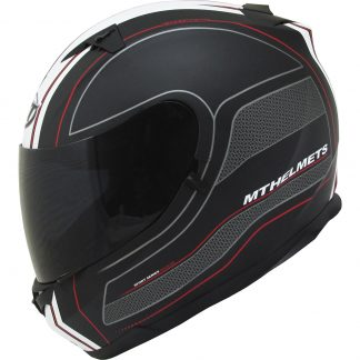 MT Blade SV Race Line Motorcycle Helmet Matt Black/Red