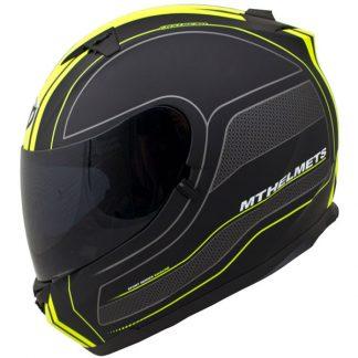 MT Blade SV Race Line Motorcycle Helmet Matt Black/Yellow
