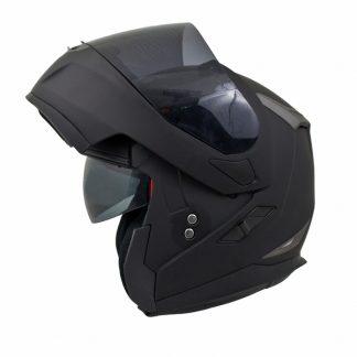 MT Flux Motorcycle Helmet Matt Black