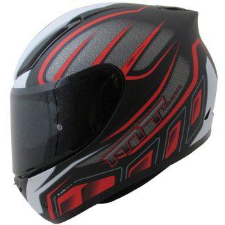 MT Revenge Alpha Motorcycle Helmet Matt Black/Red