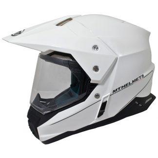 MT Synchrony Dual Sport Helmet Gloss White