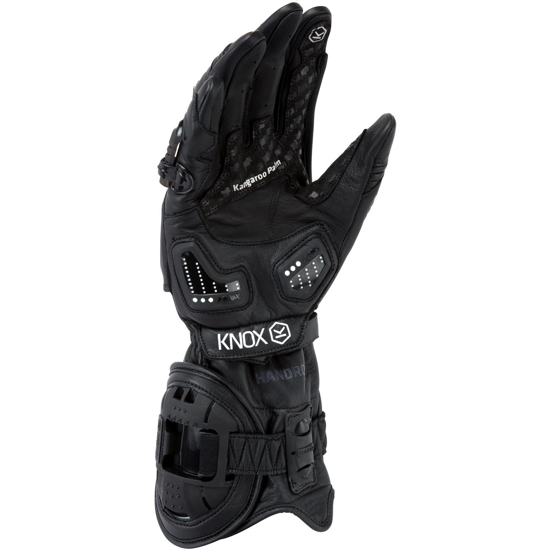 Motorcycle gloves exoskeleton - Lightbox Prev Next Knox Handroid Motorcycle Gloves Black
