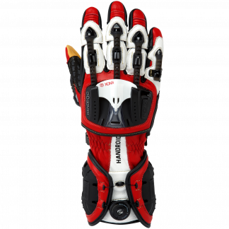 Knox Handroid Motorcycle Gloves Red