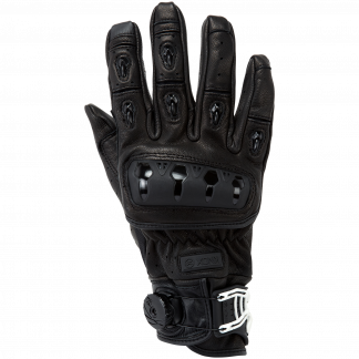 Knox Orsa Leather Motorcycle Gloves Black