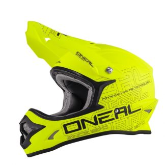Oneal 3 Series Motocross Helmet Matt Yellow