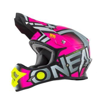 Oneal 3 Series Radium Motocross Helmet Pink