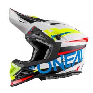 Oneal 8 Series Aggressor Motocross Helmet White