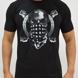 Ride Rich Chrome & Bones T Shirt