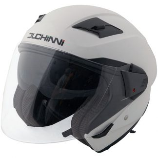 Duchinni D205 Open Face Motorcycle Helmet White