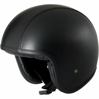 Duchinni D388 Vintage Motorcycle Helmet Black