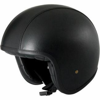 Duchinni D388 Vintage Motorcycle Helmet Black
