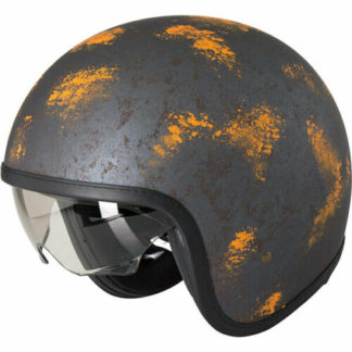 Duchinni D388 Vintage Motorcycle Helmet Rust