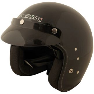 Duchinni D501 Open Face Motorcycle Helmet Gloss Black
