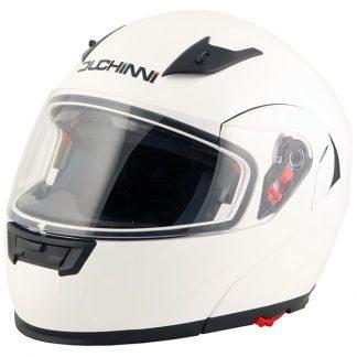 Duchinni D606 Flip Front Motorcycle Helmet White