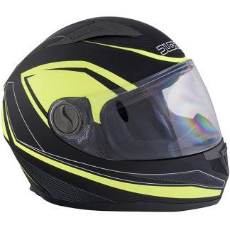 Duchinni D705 Synchro Motorcycle Helmet Yellow