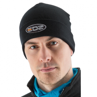 EDZ Merino Wool Motorcycle Beanie Black