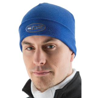 EDZ Merino Wool Motorcycle Beanie Blue