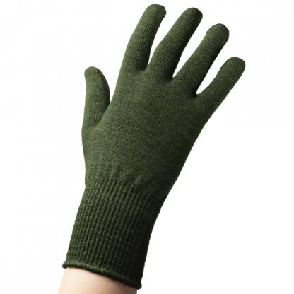 EDZ Merino Wool Thermal Liner Gloves Olive Green