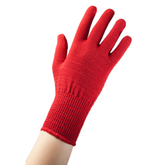 EDZ Merino Wool Thermal Liner Gloves Red