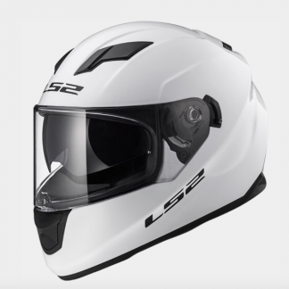 LS2 FF320 Stream Motorcycle Helmet Gloss White