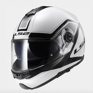 LS2 FF325 Strobe Civik Motorcycle Helmet White