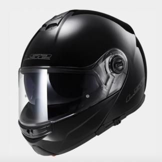 LS2 FF325 Strobe Motorcycle Helmet Gloss Black