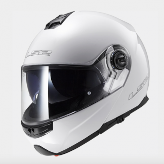 LS2 FF325 Strobe Motorcycle Helmet Gloss White