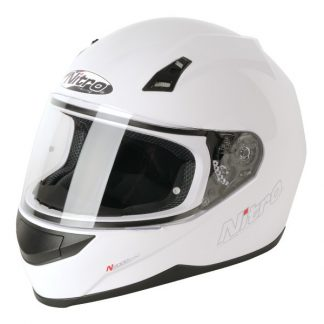 Nitro N2000 Uno Motorcycle Helmet Gloss White