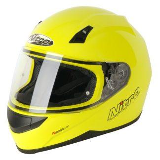 Nitro N2000 Uno Motorcycle Helmet Yellow