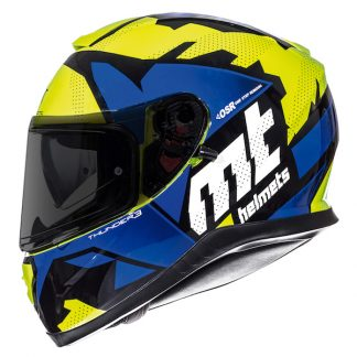 MT Thunder 3 Torn Motorcycle Helmet Blue