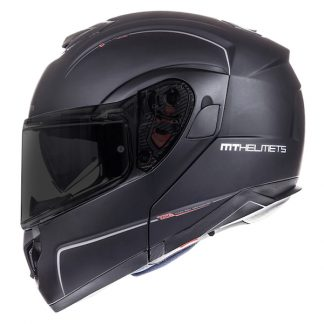 MT Atom Motorcycle Helmet Matt Black