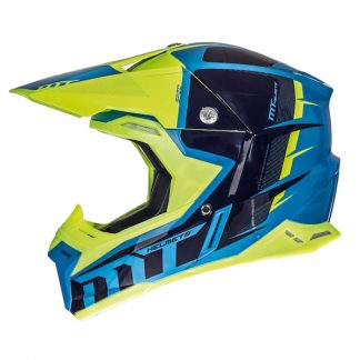 MT Synchrony Spec Motocross Helmet Blue