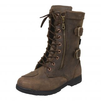Armr Moto Tara Motorcycle Boots Brown