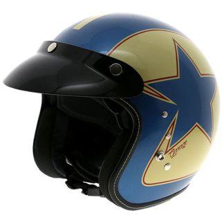 Duchinni D501 Garage Open Face Motorcycle Helmet Blue
