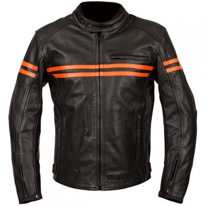 Weise Brunel Leather Motorcycle Jacket Orange