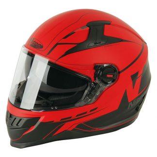Nitro N2200 Analog Motorcycle Helmet Matt Red