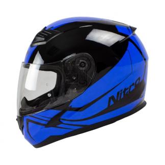 Nitro N2400 Rogue Motorcycle Helmet Blue