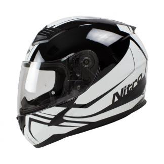 Nitro N2400 Rogue Motorcycle Helmet White