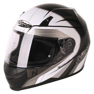 Nitro N2000 Pioneer Motorcycle Helmet Black