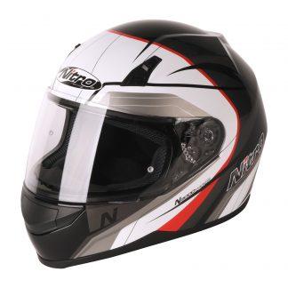 Nitro N2000 Pioneer Motorcycle Helmet Red