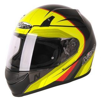 Nitro N2000 Pioneer Motorcycle Helmet Yellow
