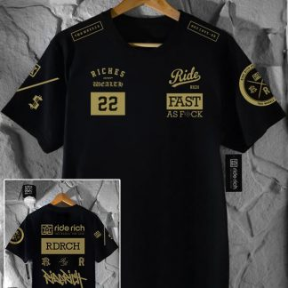 Ride Rich GP T Shirt Gold