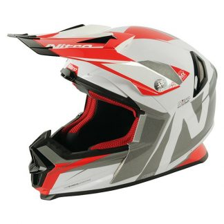 Nitro NRS MX Advance Motocross Helmet White